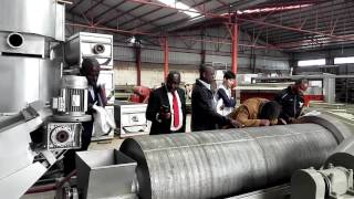 Nigerian customer visit our factory for cassava starch plant and garri making machine