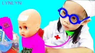 Funny Kids Pretend Play with Doctor Toy | Doctor Toy for Children Playing