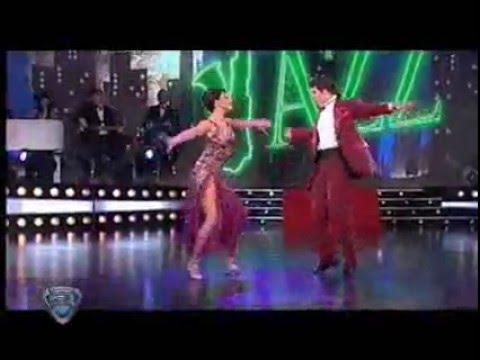 Eunice y Carlos bailan jazz