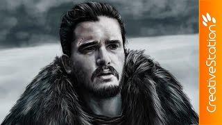 Jon Snow  - Speed Painting (#Photoshop)   CreativeStation