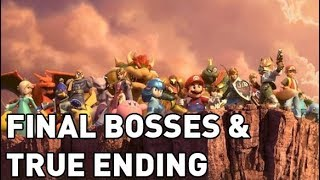 Final Bosses & True Ending (Hard) - Super Smash Brothers Ultimate (Commentary)