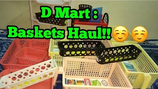 D mart multipurpose organizer basket shopping haul !!😊😊