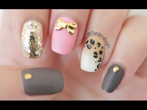 Matte Ombré Leopard Nails