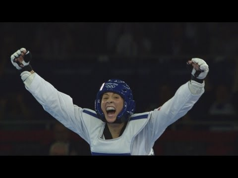 Jade Jones (gbr) Wins Taekwondo -67kg Gold V Hou Yuzhuo (chn) - London 2012 Olympics video
