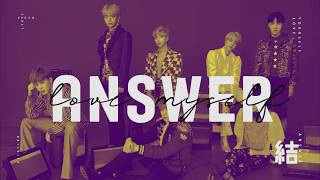 BTS (방탄소년단) - ANSWER: LOVE MYSELF Color Coded Lyrics