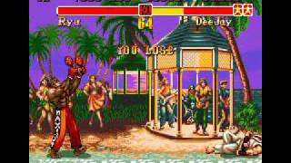 Super Street Fighter II  The New Challengers (Genesis) Gameplay