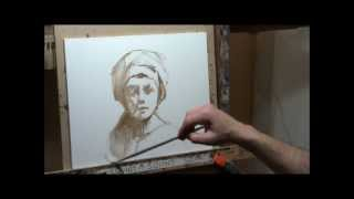 Real Time Underdrawing in Oil