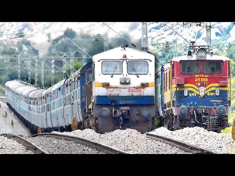 Diesel Vs Electric ROLLER COASTER Acceleration : Indian Railways