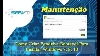 Como Criar Pendrive Bootável Para Instalar Windows 7, 8, 10