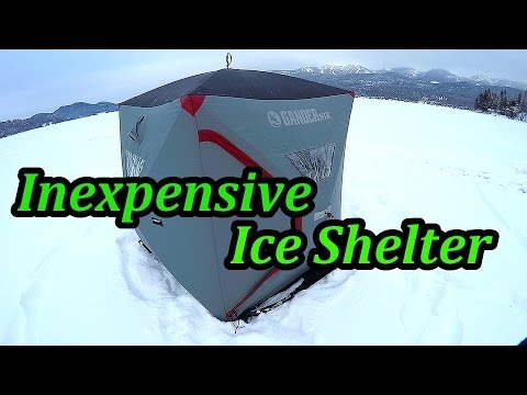 Pop Up Ice Shelter Review   Lake Trout Fishing