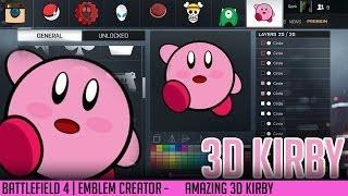 Game | BF4 Emblems Creator 3D Kirby AMAZING Qonkey | BF4 Emblems Creator 3D Kirby AMAZING Qonkey