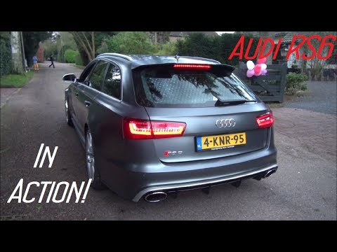 (HD) Audi RS6 Avant C7 in Action! BRUTAL Accelerations, Revs, Start-Up etc.