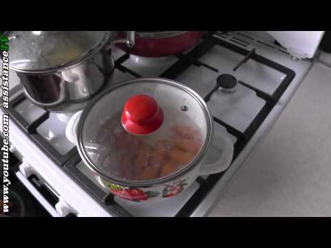Как варить сосиски в кастрюле - видео