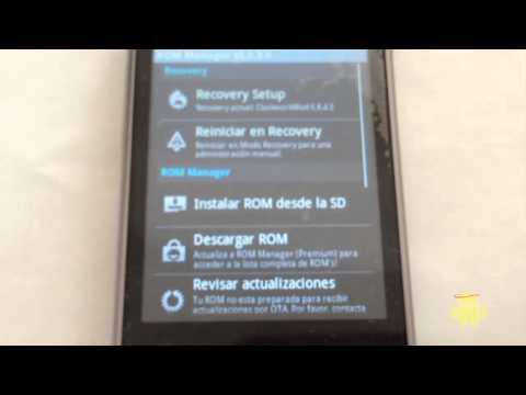 particionar micro sd con rom manager y mover apps