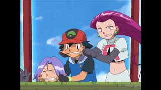 Ash And Jessie Pinching Each Other