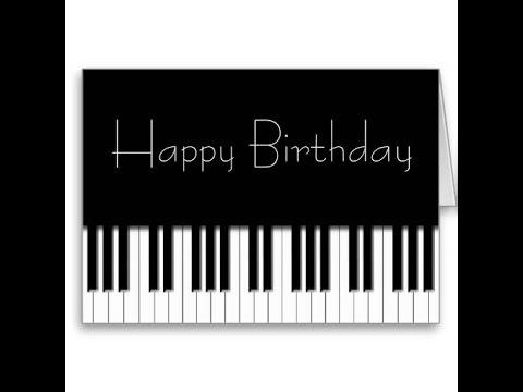 Открытка с днём рождения пианисту 36