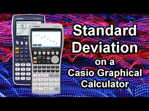 How to use a Casio Graphical Calculator to find Standard Deviation