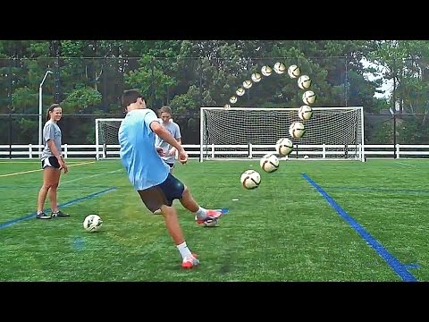How To Shoot Like Ronaldinho & Suarez - Free Kick Tutorial by freekickerz