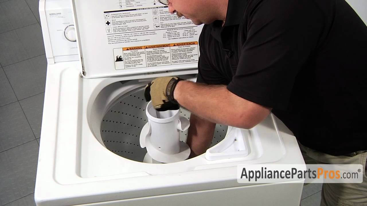 Washer filter plug kit part 285868 how to replace youtube - How to remove lint ...