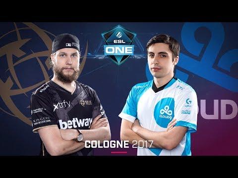 CS:GO - NiP vs. Cloud9 [Train] Map 1 - Quarterfinal - ESL One Cologne 2017