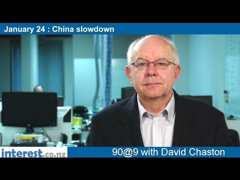 90 seconds @ 9am: Chinese slowdown