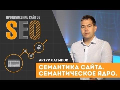Семантическое ядро сайта. Артур Латыпов. Современное продвижение сайта.  Семантика.