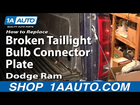 How To Replace Repair Install Broken Taillight Bulb Connector Plate Dodge Ram 02-08 1AAuto.com