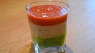 Трехслойный фруктово ягодный смузи./Berry fruit smoothies