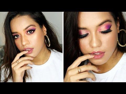 Mystery Box Makeup Challenge By Corallista // Purple Smokey Eyes