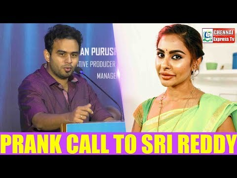 Rj Vijay funny prank call to Sri Reddy | Naan Seidha Kurumbu Movie Pooja | Chennai Express