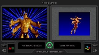 Mortal Kombat (Sega Genesis vs SNES) Side by Side Comparison