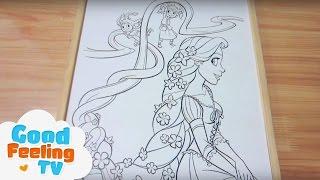 Bé tập tô màu công chúa tóc vàng 4/Coloring Pages for BLONDE PRINCESS 4/Tổng hợp tô màu
