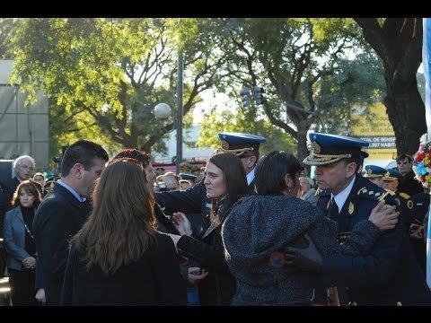 Cecilia Rodríguez en homenaje a Policías Caídos en Servicio