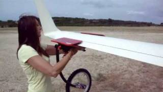 sailplane wing wheel.wmv    neu flachenrad