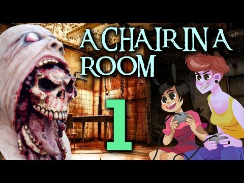 A CHAIR IN A ROOM - 2 Girls 1 Let's Play (HTC VIVE) Part 1: SPIDER!