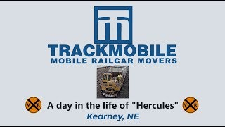 """HERCULES"" A RAIL CAR MOVER, SHOWS US IT'S METTLE IN KEARNEY, NE"