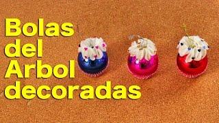 Bolas Para El Arbol De Navidad Decoradas - Adornos Navideños - Hazlo Tu Mismo - DIY