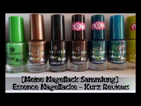 [Meine Nagellack Sammlung] Essence Nagellacke + Kurz Reviews (Teil 1)