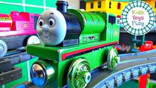 Thomas and Friends Wooden Railway Train Races   Thomas Train Sodor Super Station Speedway