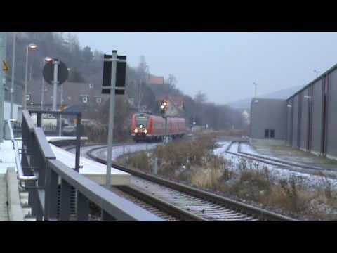 BR 612 blasts the Horn in Wernigerode, Germany