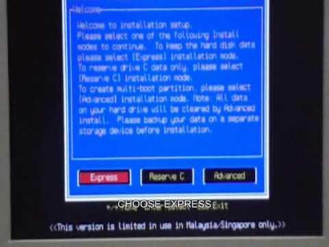 Juzt Reboot PCI NT Installation