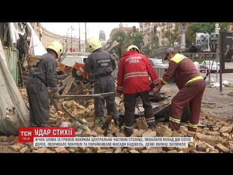 Повалені дерева та зруйновані фасади: столицю накрив кліматичний апокаліпсис
