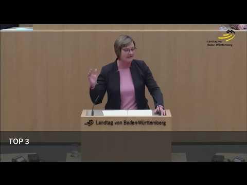 Grüne - Edith Sitzmann - Haushaltsrede der Ministerin für Finanzen