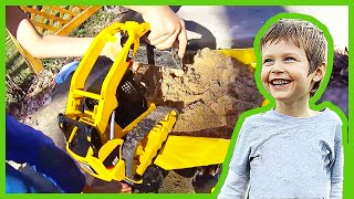 Toy Truck Skid Steer Makes a Sand Mess