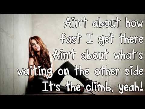 Miley Cyrus  The Climb Lyrics HD]