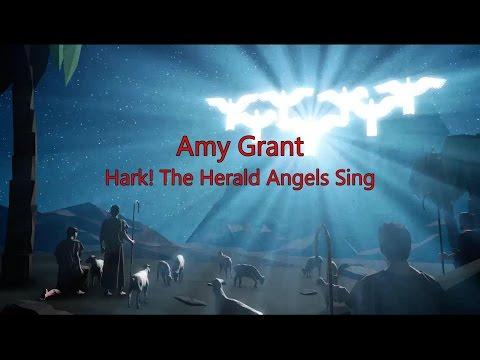 Hark! The Herald Angels Sing - Amy Grant (lyric video) HD