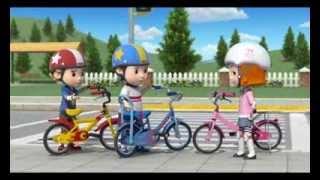 Робокар Поли : Правила дорожного движения - Безопасная езда на велосипеде Часть 2  (мультфильм 18)