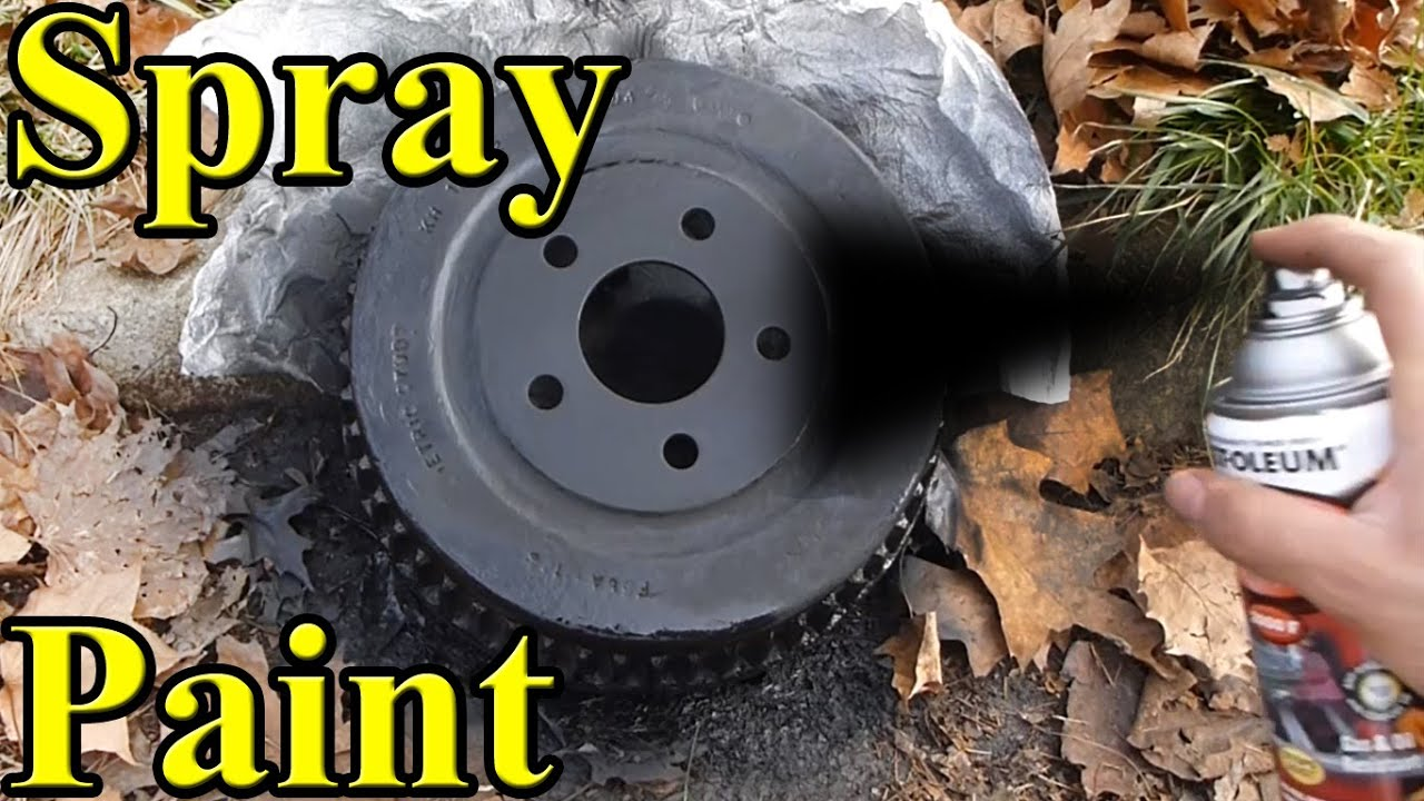 how to paint brake drums any color diy youtube. Black Bedroom Furniture Sets. Home Design Ideas
