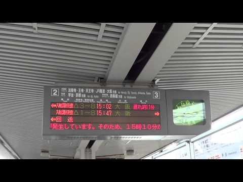 【レア】大和路線の詳細な運転見合わせ放送