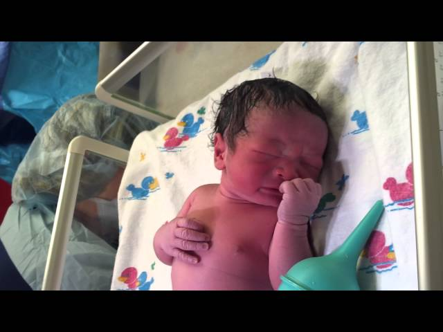 Birth of my son by C Section Cesarean Baby Delivery Full HD